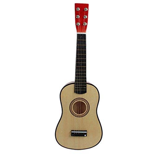 "Kinder Gitarre - TOOGOO(R) 23"" Gitarre Mini Gitarre Basswood Kinder Musik Spielzeug Akustik Saiteninstrument mit Plektrum 1st String Natueerliche Farbe"