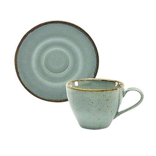 200 Ml Natur - (Kaffeetasse Teetasse Cappuccinotasse + Untertasse NATURE COLLECTION | Steinzeug | Stone - Grau | 200 ml)