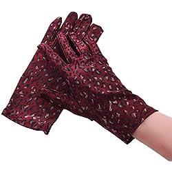 Huasho Guantes de Fiesta con Estampado Guantes de Mujer Guantes Elegantes con Dedos completos,UNA