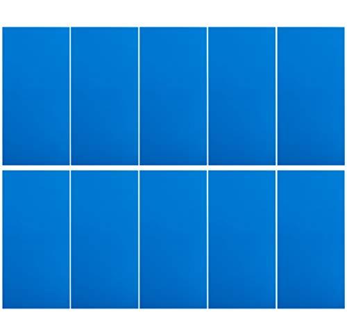 10 Pcs Large Patches, Premium Quality Daunenjacke Patch Appliques, Selbstklebende Wasserdichte FüR Jacken Kissenregenschirm Handwerk Weihnachten Thanksgiving Geschenk, Schwarz Und Blau (Blau)