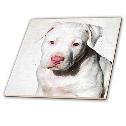 3dRose American Staffordshire Terrier Pit Bull Puppy Watercolor-Ceramic Tile Zoll (CT 245337 _ 4), 30,5 cm