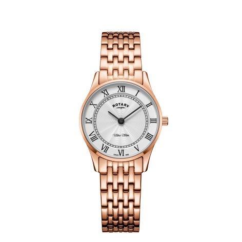 Rotary Orologio da donna con cinturino in oro rosa ultra slim LB08304/01