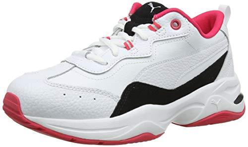 PUMA Cilia Lux, Zapatillas para Mujer, White Black-Nrgy Rose Silver, 42.5 EU