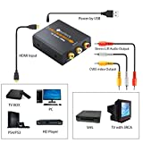 Neoteck Alloy HDMI to AV Adapter 1080P HDMI to AV 3RCA CVBS Composite Video Audio Converter Supporting PAL/NTSC for PC Laptop Wii Xbox PS3 PS4 TV STB VHS VCR Camera Blu-ray DVD
