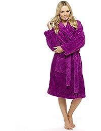 81a2e3702a CityComfort Vestido de Lujo de Las señoras Traje súper Suave con Forro de  Piel Albornoz Felpa