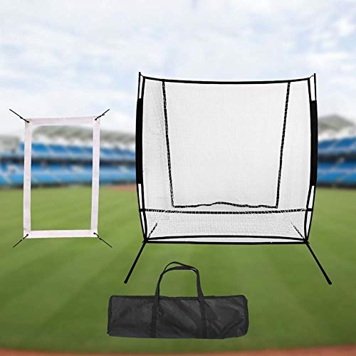 HipHopSport 2x1.85M Replacement Net, Baseball & Softball Praxis Pitching & Fielding Net Pitchback, One Pitch Return