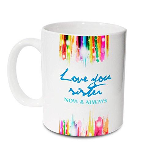 Hot Muggs Love You Sister Ceramic Mug, 350ml