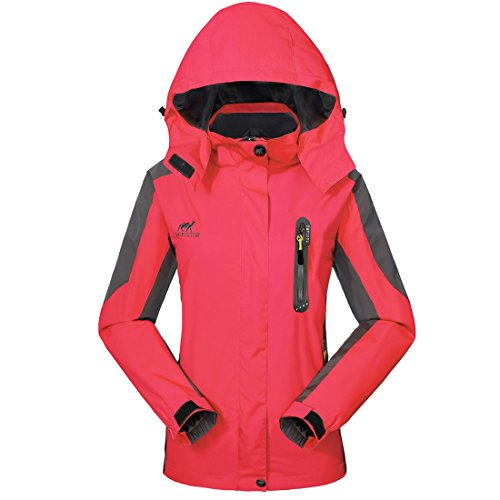 GIVBRO Damen Softshell Sport Outdoorjacke Wasserdichte Regenjacke Atmungsaktive Funktionsjacke Multifunktions Jacke 2017 Neues Design