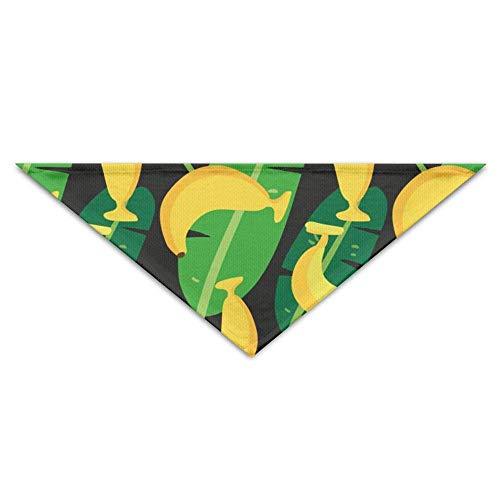 Pet Bandanas Banane Tropical Blätter Muster Hund Bandanas Schals Dreieck Lätzchen Schals Funny Basic Dogs Halstuch Cat Collars