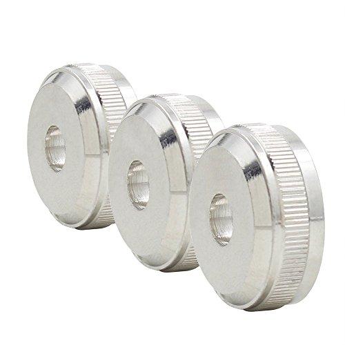 Ammoon 3Teile Kupfer Trompete Schlüssel Kolben Taste Deckel-Ventil Schraube Zubehör Teil