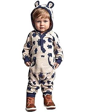 Culater® bambino cappuccio cartoon ragazza neonato IE pagliaccetto caldi vestiti outwear