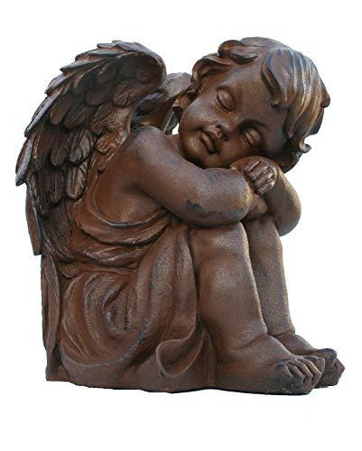 colourliving Dekofigur Engeljunge Rubiel Engel Dekoration Engelfigur rostoptik Gartendeko | Dekoration > Figuren und Skulpturen > Engel | colourliving