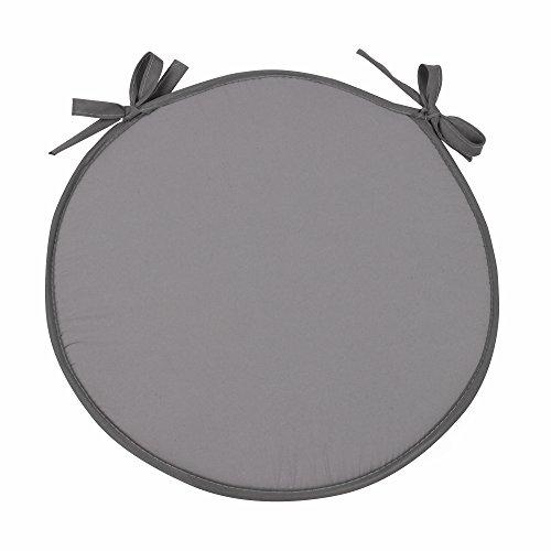 Simpvale set di 4 cuscini rotondo per sedie, poltrone e torte, grigio, diametro 38cm