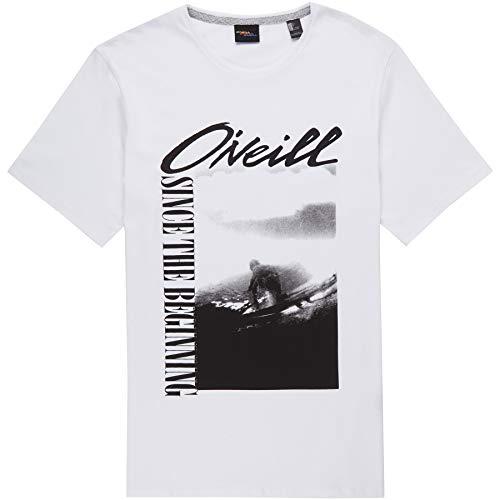 O'Neill LM Frame Camiseta Manga Corta, Hombre, Super White, S