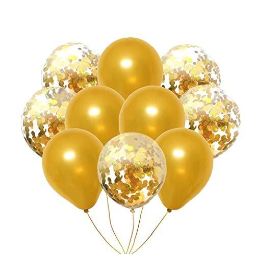 WwzEITpV 10pcs / Pack De Oro Partido Confeti De Los
