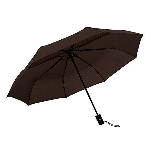 Wascoo Faltbarer Regenschirm Mann Automatischer winddichter Faltbarer Regenschirm mit automatischem Öffnungs- und Schließgriff, gebogen, rutschsicher und bequem