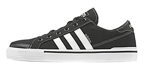 adidas Clementes, Chaussures de Sport Homme, Noir, 41 EU Noir / blanc (noir essentiel / blanc Footwear / blanc Footwear)