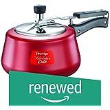 (Renewed) Prestige Nakshatra Aluminium Pressure Cooker, 2 Litres, Red