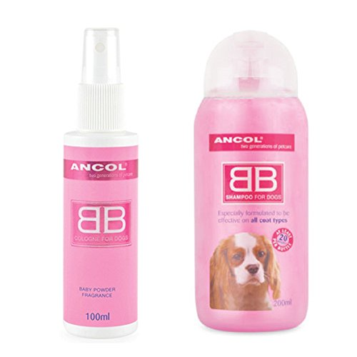 ancol-baby-powder-fragrance-dog-cologne-perfume-scent-shampoo-talc-powder-set