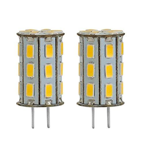 GY6.35 LED 12V DC/AC 5W als Ersatz für 35W Halogen Lampen ZSZT Warmweiß 3000K für Schreibtischlampe, Kristall Scheinwerfer-Birne (2 Packs) -