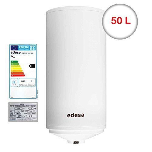 Edesa TRE-50 L SUPRA Warmwasserspeicher 50 Liter Elektrospeicher Boiler Warmwasserbereiter Wandwarmwasserspeicher/Ø 38 cm/83 cm H/Leistung 1200W/Stahl spezialemailliert/1.2 kWh (Warmwasserspeicher)
