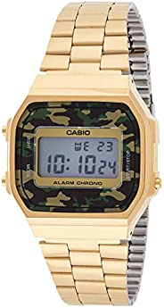 Casio Vintage Digital Dial Stainless Steel Band Watch