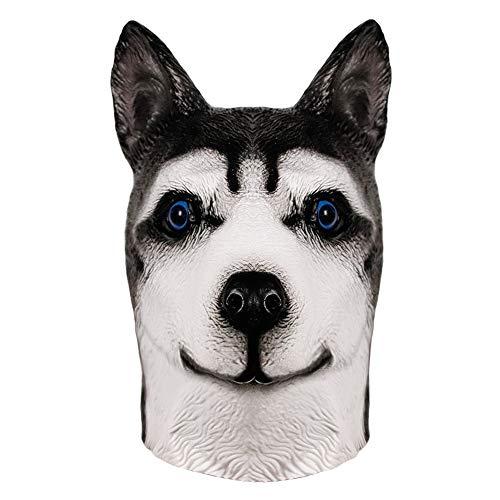 Shar Pei Hund Maske, Halloween Bulldog Mops Hund Kopf Maske, Neuheit Deluxe Kostüm Party Latex Tierkopf Maske für Erwachsene