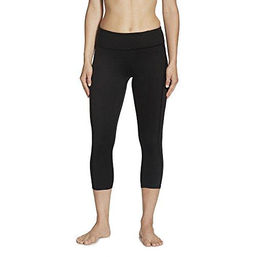 gaiam Apparel Damen Luxe Yoga Capri, Damen, Black Infinity Gloss, Small -