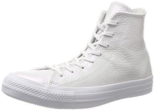 Hi Schuhe (Converse Unisex-Erwachsene CTAS Hi White Hohe Sneaker, Weiß (White), 40 EU)