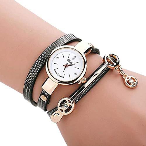 Keattl clearance deal watch,orologio da polso a catena a mano, cinturino a mano con cinturino in diamanti (nero)