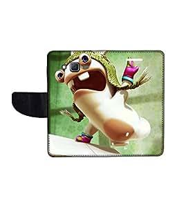 KolorEdge Printed Flip Cover For Samsung Galaxy J5 Multicolor - (1478-50KeMLogo10271SamJ5)