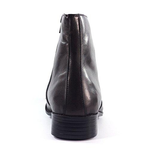 Hommes Classique Cheville Chelsea Cuir bottines- noir et brun Marron
