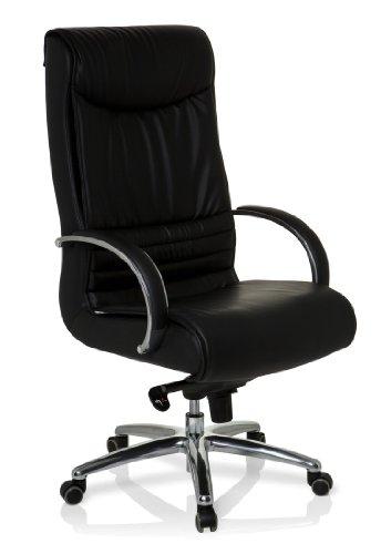 hjh OFFICE 600951 Bürostuhl Chefsessel XXL F 400 Kunstleder schwarz, bequeme dicke Polsterung, ideal für das Büro oder Home Office, Drehstuhl, Bürostuhl Sessel, Chefsessel ergonomisch, 150Kg