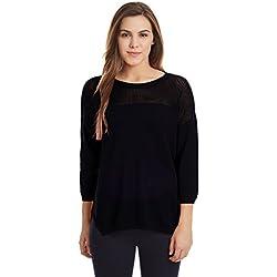 United Colors of Benetton Women's Cotton Sports Knitwear (16A1092D6102IA03L_Dark Grey)