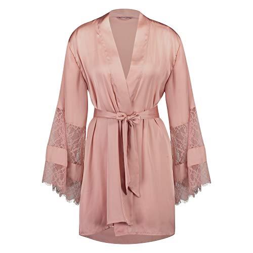 Hunkemöller Damen Kimono Lace Satin XS/S, Bridal Rose