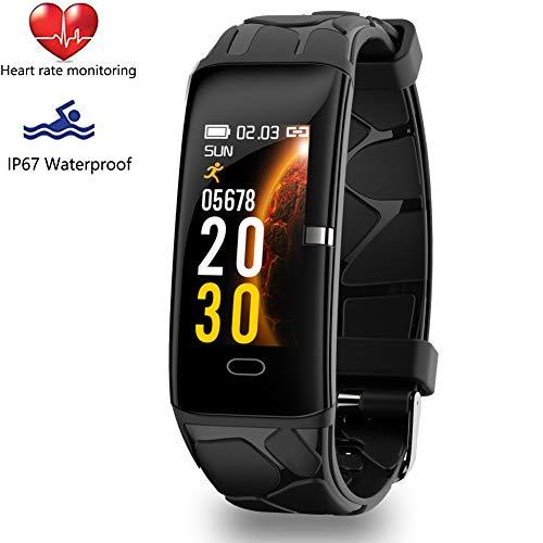 WISHDOIT Fitness Trackers Intelligentes Armband Pulsmesser IP67 Wasserdicht Aktivitäts Tracker mit Schlafmonitor Schrittzähler Uhr für Damen Herren Kinder,Für iOS Android