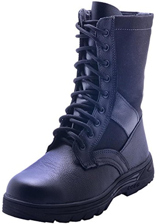 Men 's Outdoor montañismo camuflaje negro botas altas,39 negro