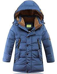 SEEU Daunenjacke Für Jungen Winterjacke Kälteschutz Lange Jacke Mit Abnehmbar Kapuze