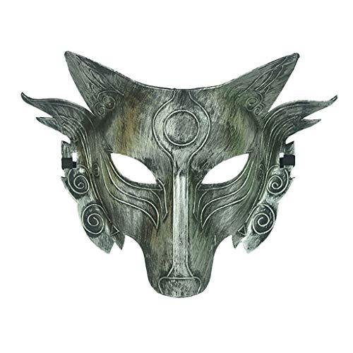 Huacat Halloween Maske Cosplay Wolf Kostüm Vollgesichtsmaske für Männer Frauen Fasching Party Full Face Skull (Maskenball Kostüm Ideen Paare)