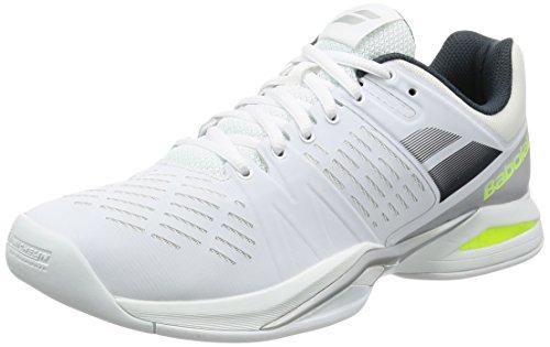 Babolat Herren Propulse Team Indoor Tennisschuhe, Mehrfarbig (weiß/grau/gelb), 43 EU