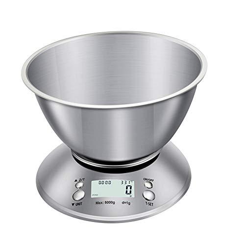 YXB Elektronische Küchenwaage Aus Edelstahl, Elektronische Haushaltswaage Zum Backen, Waage Für Lebensmittelschalen,3kg