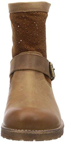 Panama Jack Sarah Damen Kalt gefüttert Biker Boots Kurzschaft Stiefel & Stiefeletten Braun (Mink)