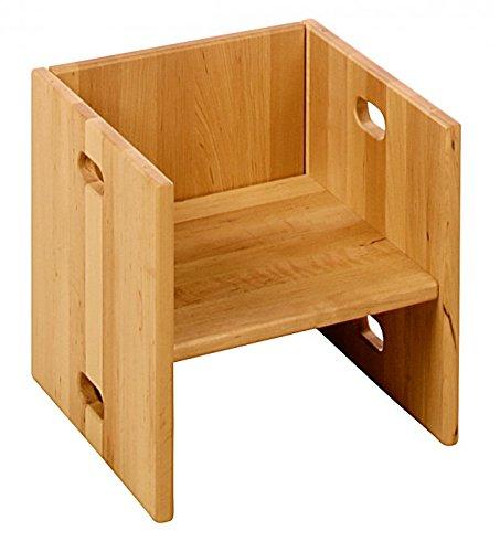 BioKinder 22185 Elena Cubo, silla y mesa. Madera aliso biologica
