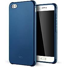 Xiaomi Mi 5 Funda,Lizimandu Protectiva Carcasa de Silicona de gel TPU Transparente, Ultra delgada, Resistente a los arañazos en su parte trasera, Amortigua los golpes Case Cover Para xiaomi mi5(Azul/Blue)