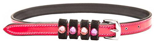 Imperial Riding Sporenriemen Pardouz Lack-Leder mit farbigen Kristallen black-pink-lack