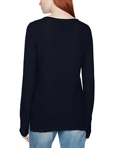 TOM TAILOR Damen Pullover Ottomane Sweater Blau (Real Navy Blue 6593)