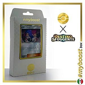 Jessie e James 58/68 Holo Reverse - #myboost X Sole E Luna 11.5 Destino Sfuggente - Box de 10 cartas Pokémon Italiano