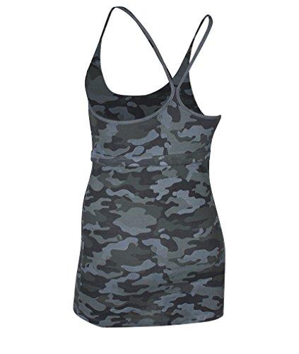 Ognx T-shirt débardeur pour femme Vert olive