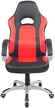 Racoor Video Gaming Chair, Black and Orange - H 118 cm x W 51 cm x D 47 cm
