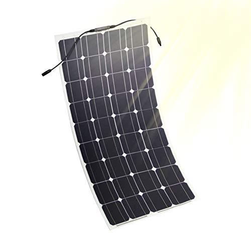 JAYLONG Panneaux Solaires Flexibles 100W, 2 Chargeurs Solaires 12V / 24V, Contrôleur De Charge LCD De Sécurité Inclus, 10 Ans De Durée De Vie,1Pcs - Portable-rv-generator
